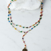 Raw And Rebellious Hands Free Multi Lariat Necklace