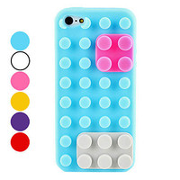 Toy Bricks Design Soft Case for iPhone 5 (Assorted Colors) from 1Point99.com