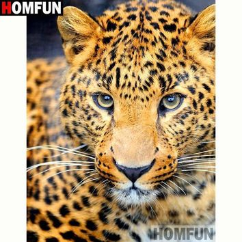 5D Diamond Painting Spotted Leopard Kit