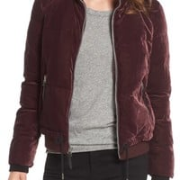 Andrew Marc Vita Down & Feather Fill Quilted Velvet Jacket | Nordstrom