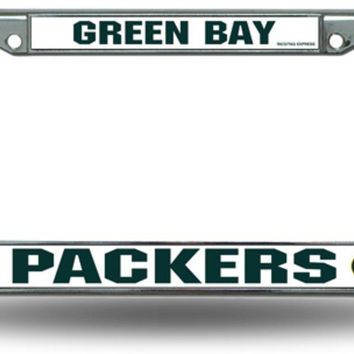 Rico Chrome License Plate Frame - NFL Green Bay Packers
