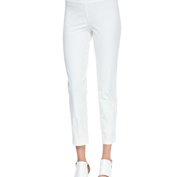 Washable Stretch-Crepe Ankle Pants, Women's - Eileen Fisher