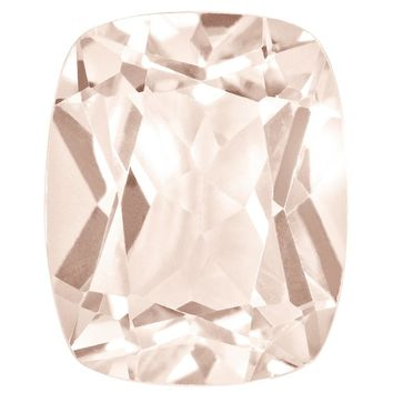 Loose Morganite Gemstone  6mm Sq Cush AA Quality