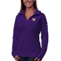 Columbia Washington Huskies Womens Glacial Fleece Half Zip Sweatshirt - Purple