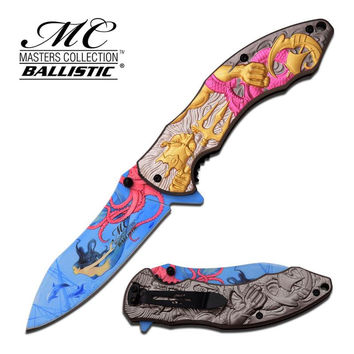Master Collection 4.75 Inch Closed Fantasy Spring Assisted Folding Knife Pink