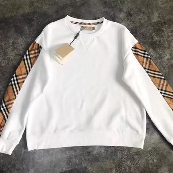 burberry Women Fashion Long Sleeve Pullover Sweatshirt Top Sweater