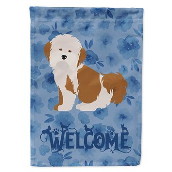 Havanese #2 Welcome Flag Canvas House Size CK5998CHF