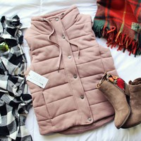 Stadium Cloth Vest in Mauve