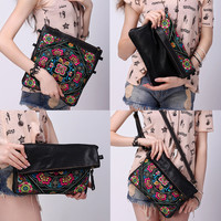 6-Way Embroidered Clutch Purse
