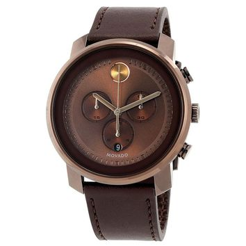 Movado Bold Chronograph Brown Dial Mens Watch 3600420