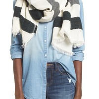 Sole Society Textured Jacquard Scarf | Nordstrom