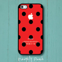 iPhone 5 Case, iPhone 5S Case - Ladybug Polka Dots /  iPhone 5S Case, iPhone 5S Cover, Cover for iPhone 5S, Case for iPhone 5S