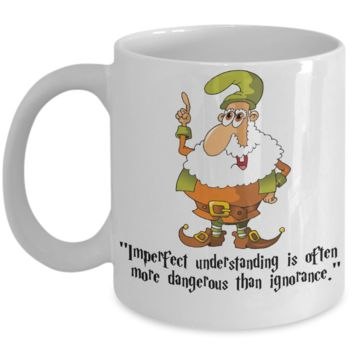 Harry Fan Holiday 2016 Mug - Fun Elf Saying & Quote Cup For Christmas Stocking Stuffer Gift - Drink Your Cocoa, Milk & Favorite Beverage Or Use As Pencil Holder