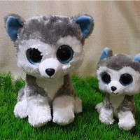 Ty Beanie Boos Big Eyes Husky Dog Plush Toy Doll Stuffed Animal Cute Plush Toy Kids Toy