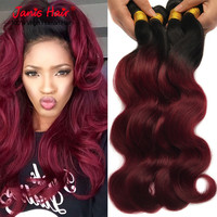Hair Extensions 1b/99j Peruvian Virgin Hair Body Wave