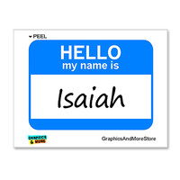 Isaiah Hello My Name Is Sticker