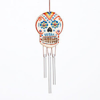 Mini Handcrafted Skeleton Wind Chime | Outdoor and Patio Decor| Home Decor | World Market
