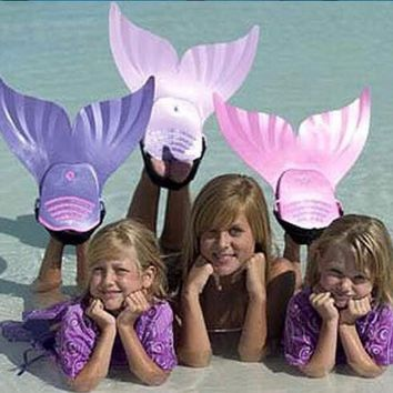 Children Mermaid Swim Tail Fins