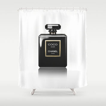 CHANEL Noir Shower Curtain by BeckiBoos