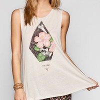 Volcom Death Womens Muscle Tank Beige  In Sizes