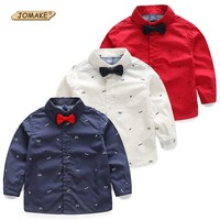 Boys Shirts Spring Bow Tie 2-10 Years