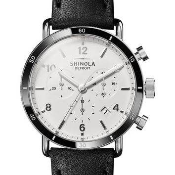 Shinola The Canfield Chrono Leather Strap Watch, 40mm | Nordstrom
