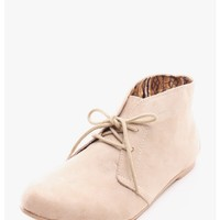 Taupe Athena Suede Chukka Boots | $10.00 | Cheap Trendy Boots Chic Discount Fashion for Women | Mod