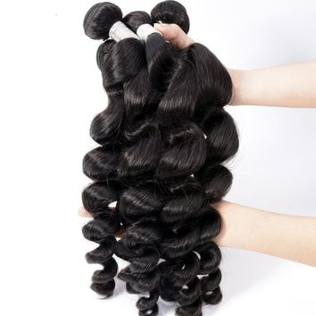 15% OFF- Malaysian Loose Wave Remy Hair Extensions 1pcs 100% Human Hair