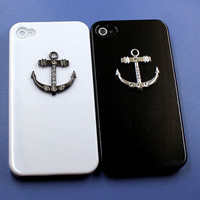 anchor Iphone  cases for lovers,Iphone 4s cases,  cross iphone 4 cases,simple design iphone case 4