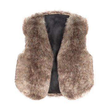 Girls Faux Fur Vest: 4 Color Options!