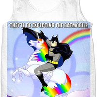 Batman Riding A Unicorn Tshirt