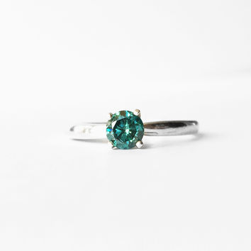 OOAK - Blue Diamond Ring