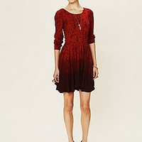 Lonely Hearts  Print Dip Dye Fit and Flare Dress at Free People Clothing Boutique