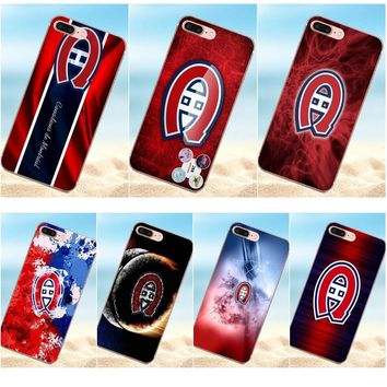 Qdowpz For Apple iPhone 4 4S 5 5C 5S SE 6 6S 7 8 Plus X TPU Cell Phone Case Cover Montreal Canadiens Logo Nhl S Duos