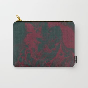 Cranberry and Evergreen Carry-All Pouch by DuckyB