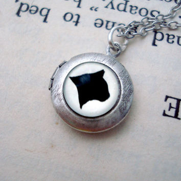 Cat Silhouette Locket