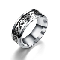 Women Men Bohemian Vintage Silver Stack Totem Rings Above Knuckle Rings