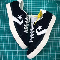 Converse Canvas Chevronstar Ox Black White Shoes - Best Online Sale