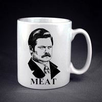 Ron Swanson MEAT Personalized mug/cup