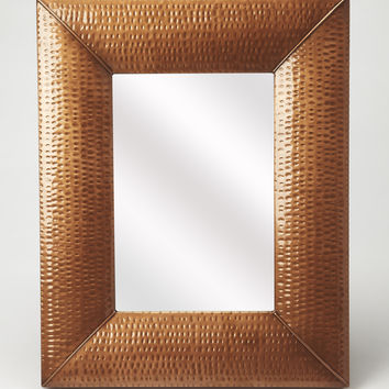 Butler Lehigh Hammered Copper Wall Mirror 4309085