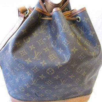 PEAPYD9 Authentic Vintage Louis Vuitton Monogram Canvas Drawstring Bucket Bag