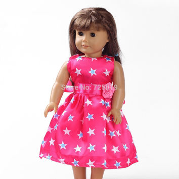 Free shipping hot 2014 new style Popular 18 inches American girl doll clothes dress b134