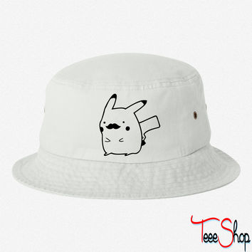 mustachu bucket hat