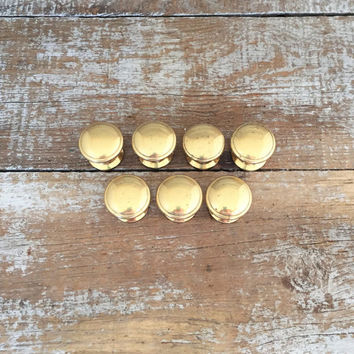Drawer Knobs 7 Drawer Pulls Brass Knobs Mid Century Hardware Dresser Knobs Kitchen Cabinet Door Knobs Home Improvement Brass Drawer Pulls