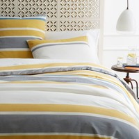 Sol Stripe Duvet Cover + Shams