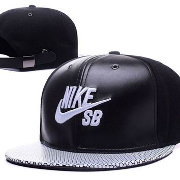 Day-First™ Black Leather Nike Baseball Cap Hat