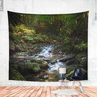 Down the dark ravine Wall tapestry