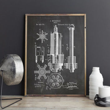 Drill Printable, Drill Print, Industrial Blueprint, Garage Patent, Manly Printable, Garage Blueprint, Manly Art Gift,Decor, INSTANT DOWNLOAD