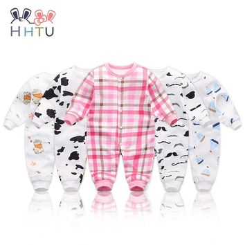 HHTU Baby Rompers Jumpsuits Baby Girls Clothing Children Autumn Newborn Baby Clothes Cotton Long Sleeve Climb Clothes