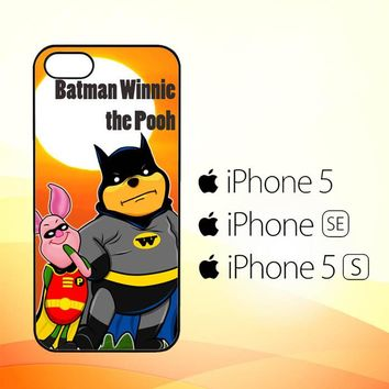 Winnie the Pooh Batman and Piglet robin D0074  iPhone 5|5S|SE Case